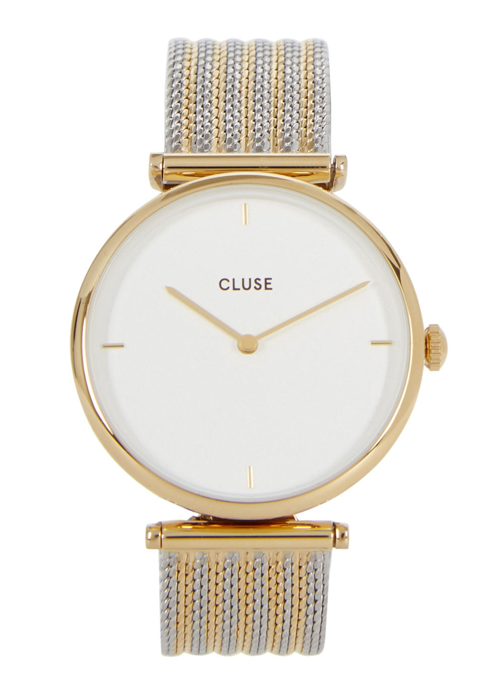 CLUSE TRIOMPHE SILVER AND GOLD TONE WATCH