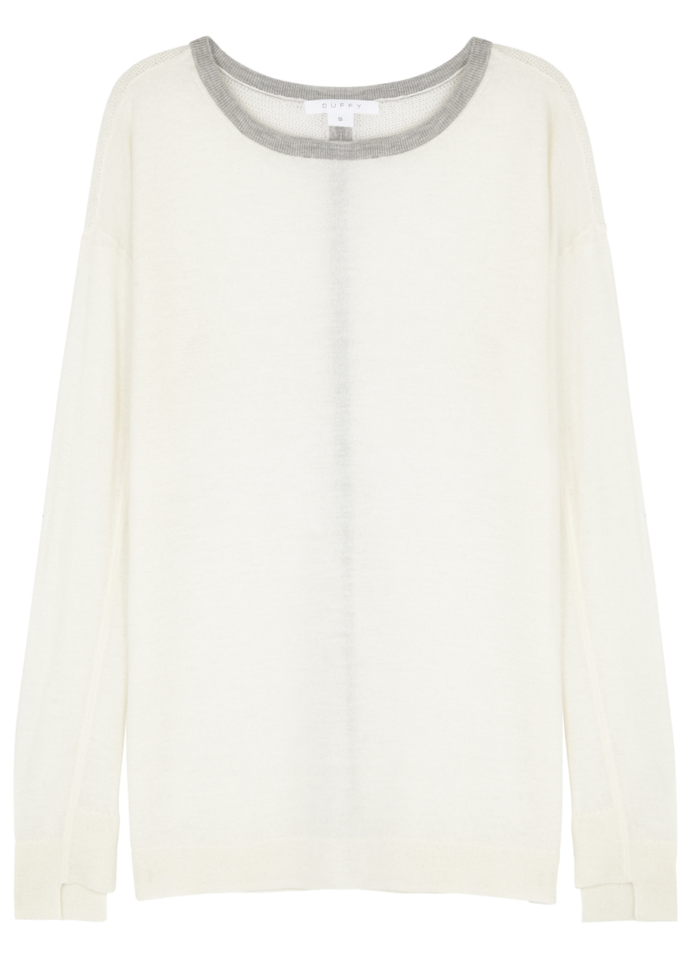 DUFFY IVORY CASHMERE JUMPER