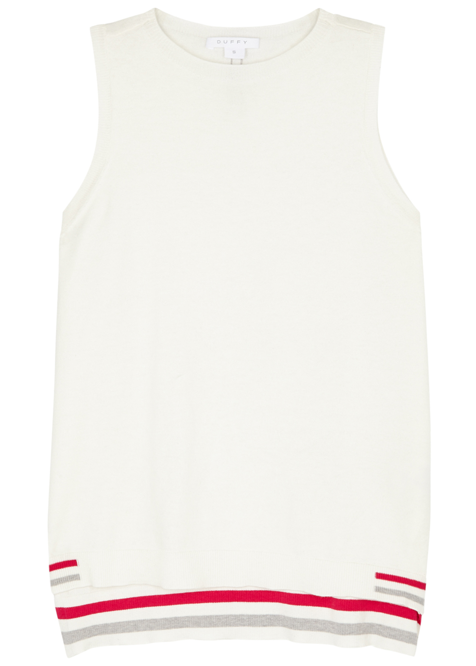 DUFFY IVORY COTTON-BLEND TANK