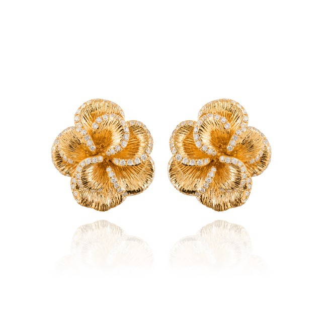 ORTAEA JARDIN FLORAL KORAL EARRINGS