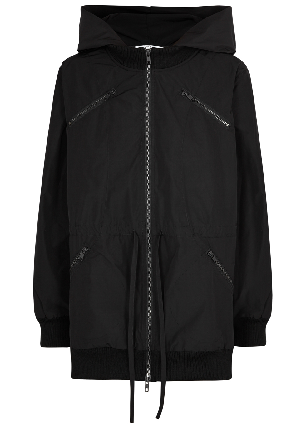 CLU BLACK HOODED SHELL JACKET