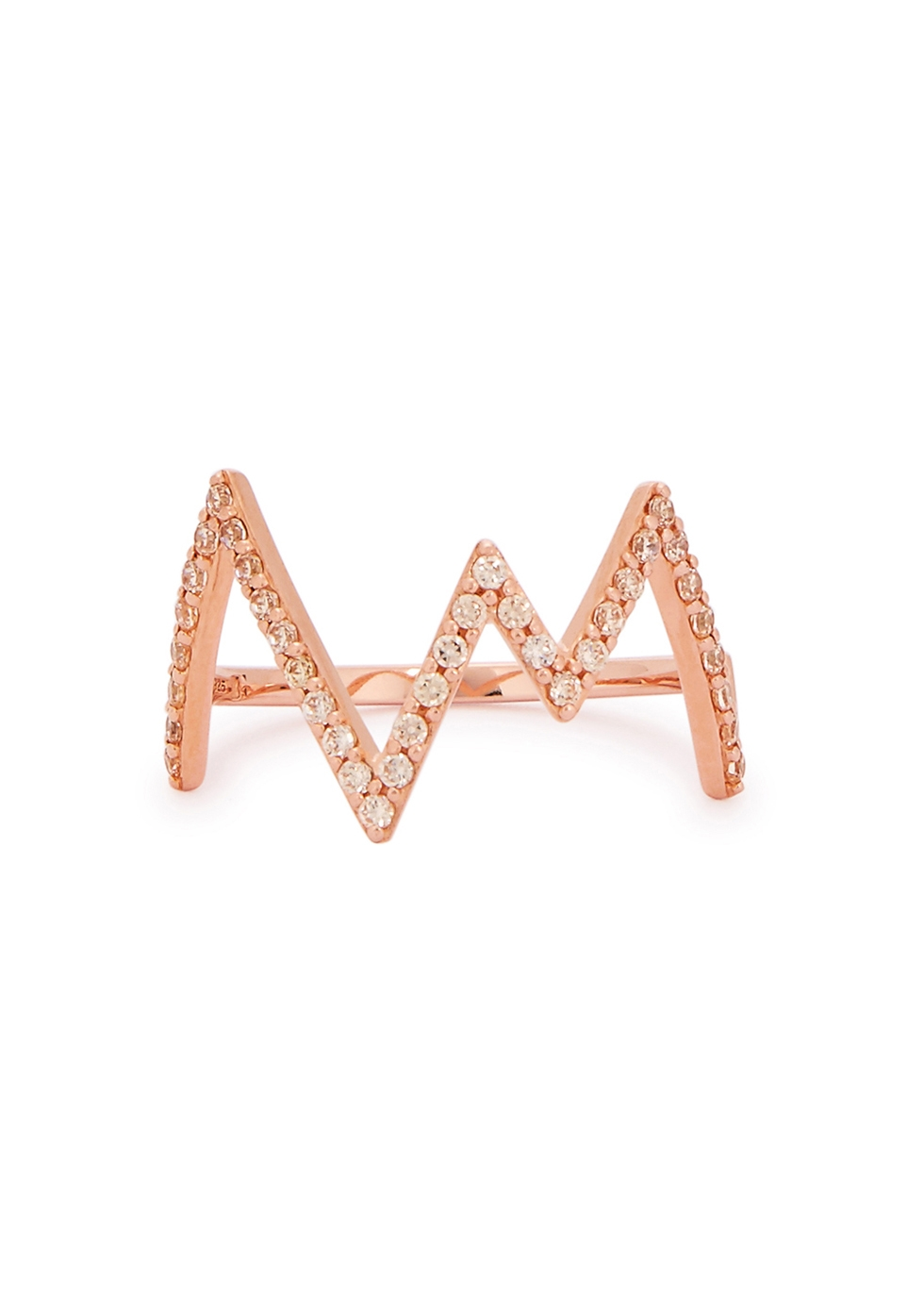 ROSIE FORTESCUE HEARTBEAT 18CT ROSE GOLD-PLATED RING