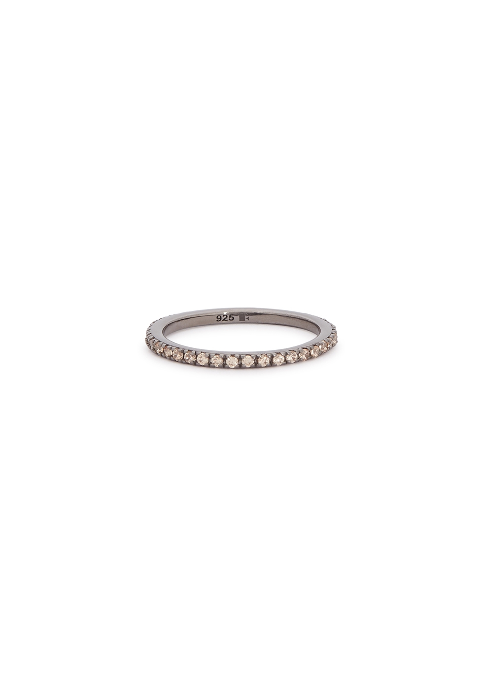 ROSIE FORTESCUE Crystal-Embellished Rhodium Ring