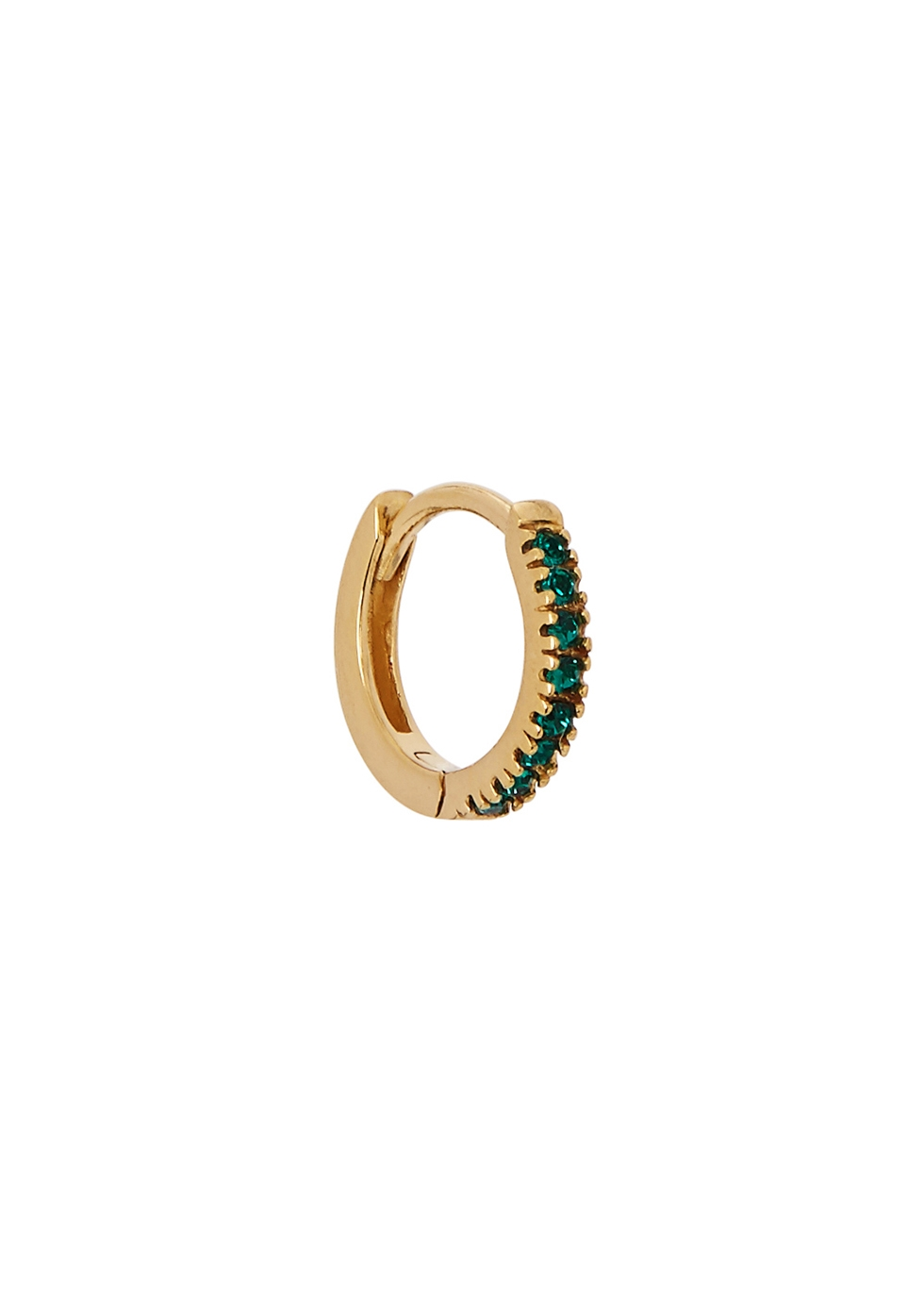 ROSIE FORTESCUE 18CT GOLD-PLATED SINGLE HOOP