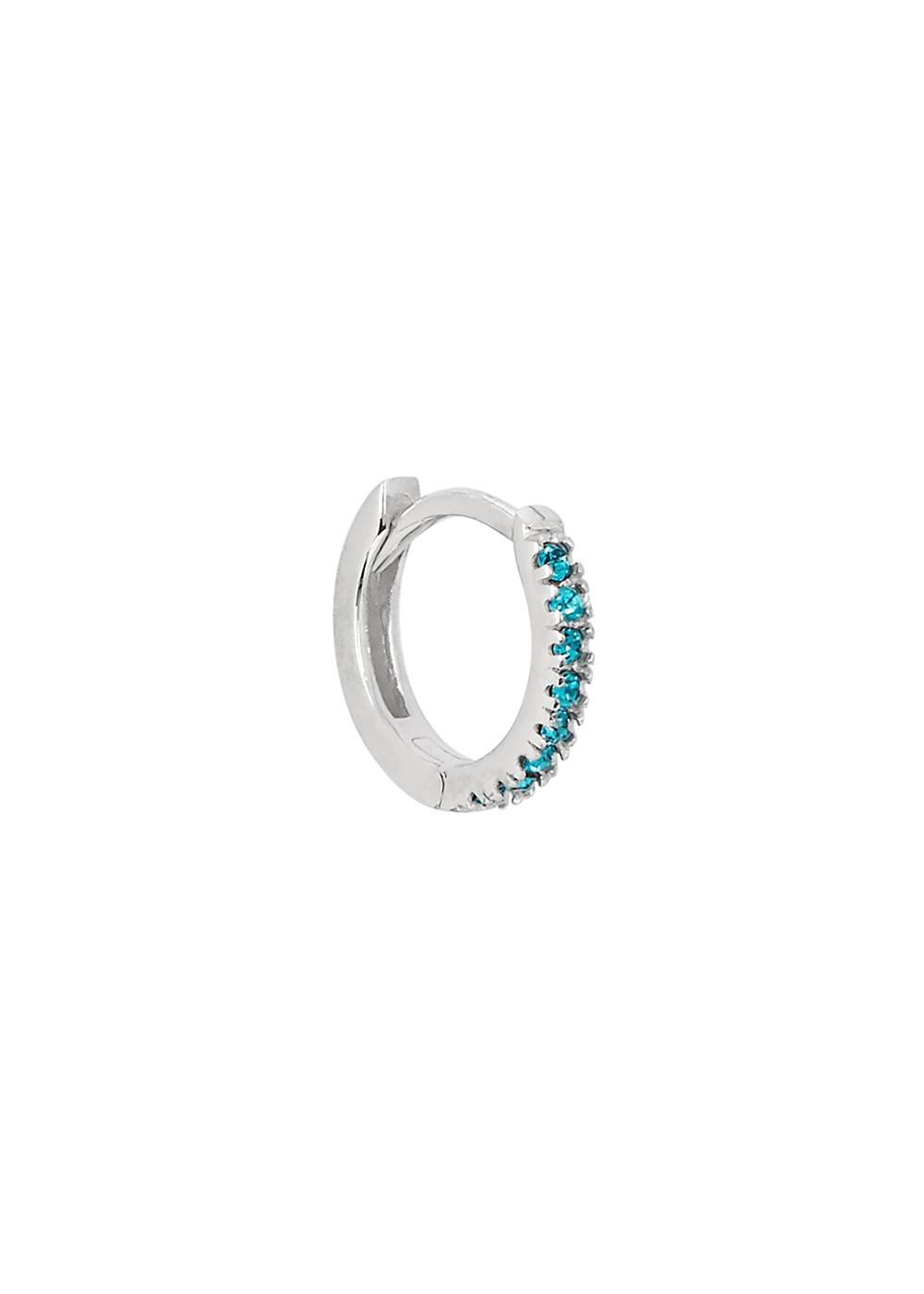 ROSIE FORTESCUE Sterling Silver Hoop Earring in Blue