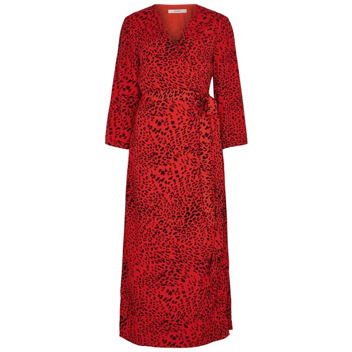 Gestuz LOUI LEOPARD-PRINT WRAP DRESS