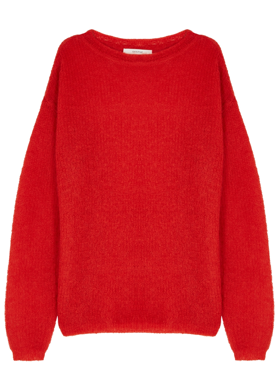 GESTUZ MOLLY RED MOHAIR-BLEND JUMPER