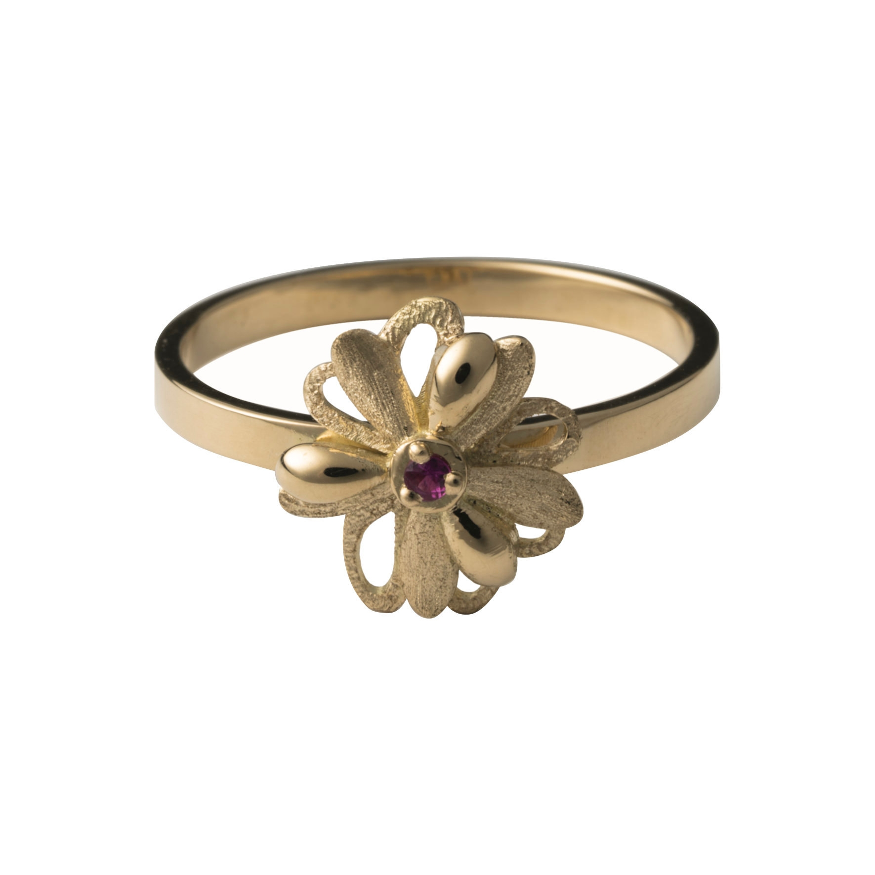 MOZAFARIAN GOLD AND RUBY RING