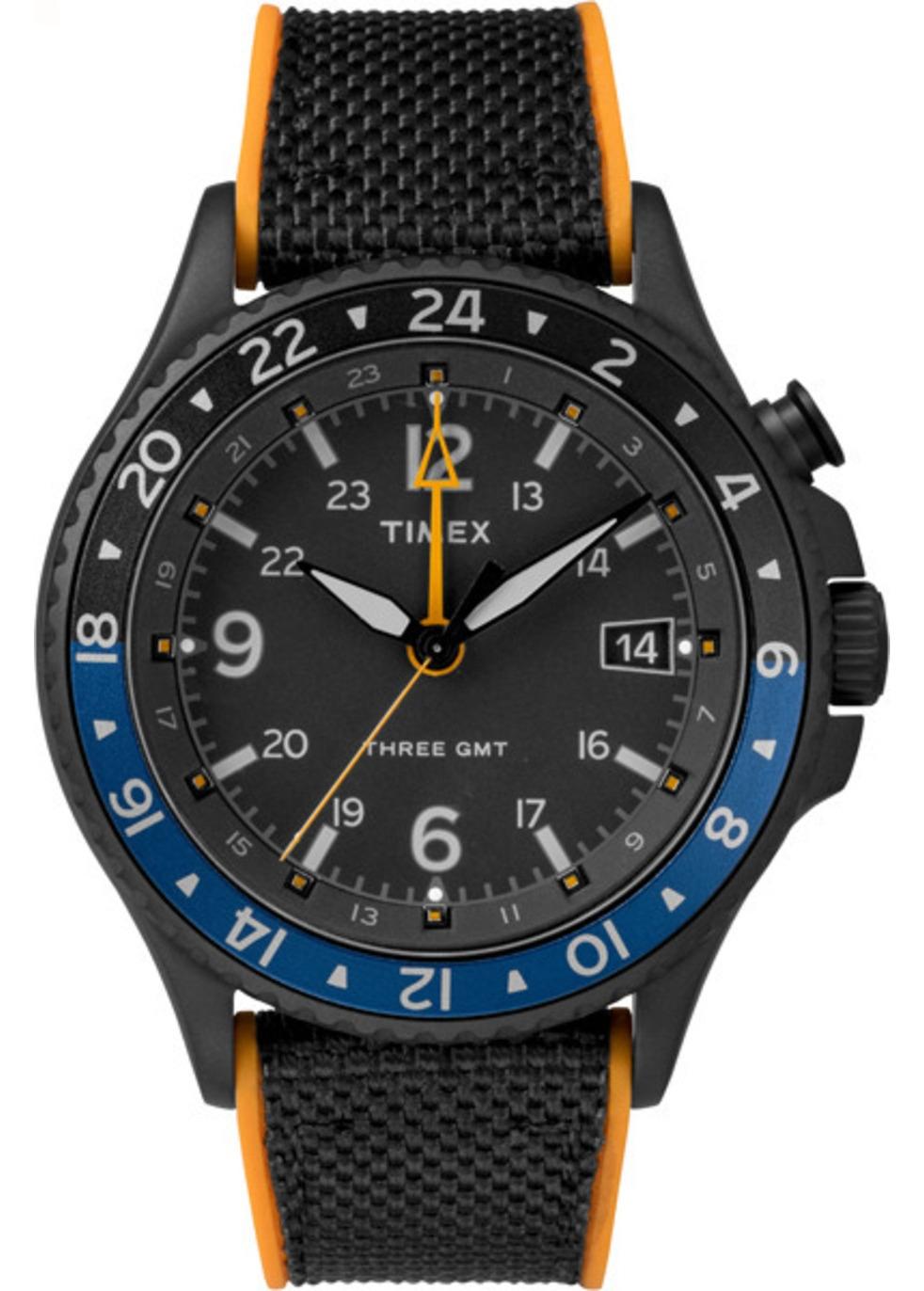 TIMEX | Timex Iq Technology 3-gmt Case | Goxip