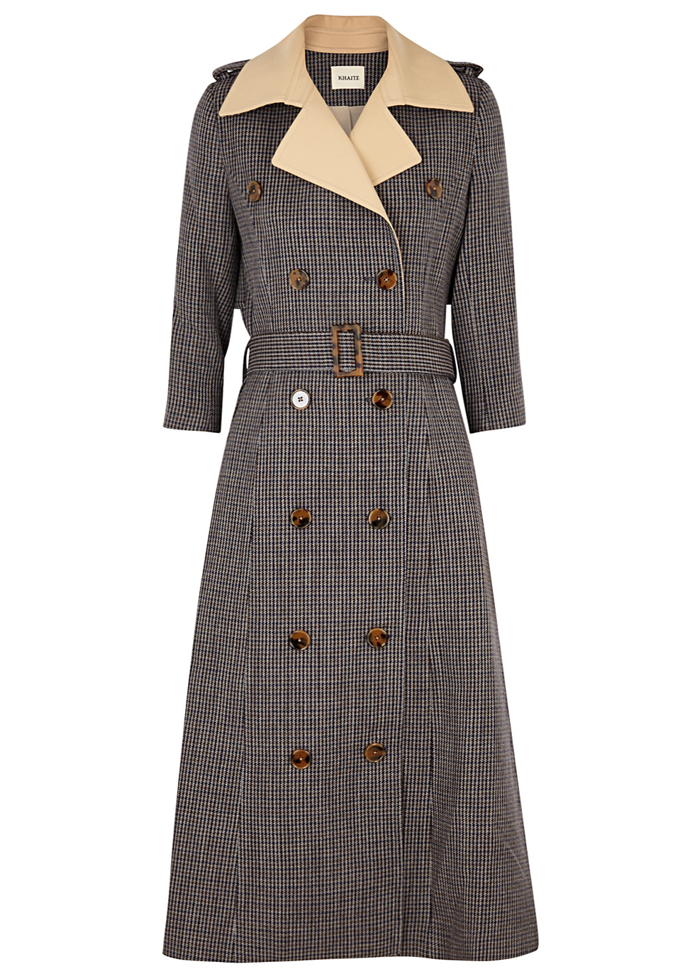 CHARLOTTE DOUBLE-BREASTED WOOL TRENCH COAT