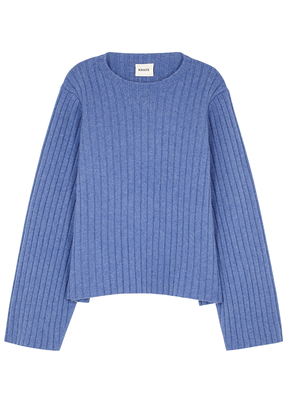 Loretta Ribbed Cashmere Jumper in Blue