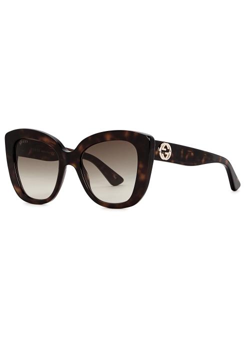 68544db9ea2 Gucci Tortoiseshell cat-eye sunglasses - Harvey Nichols
