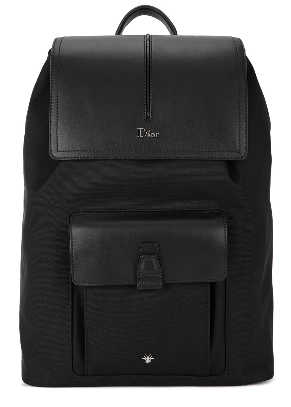 DIOR HOMME MOTION LEATHER-TRIMMED CANVAS BACKPACK