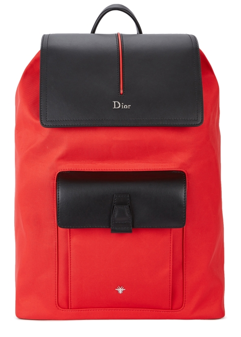 Dior Homme Motion leather-trimmed canvas backpack - Harvey Nichols a7fc6f9a6a92c