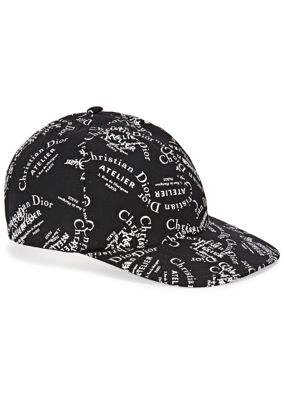 Dior Homme Black logo-print wool cap - Harvey Nichols ec7a92c17dc