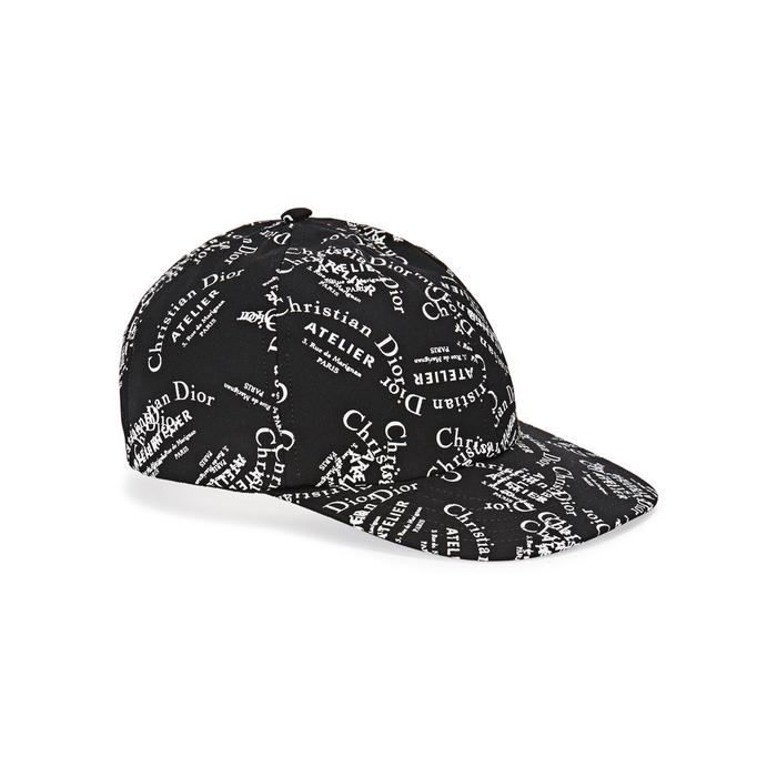 Dior Homme Black Logo-print Wool Cap