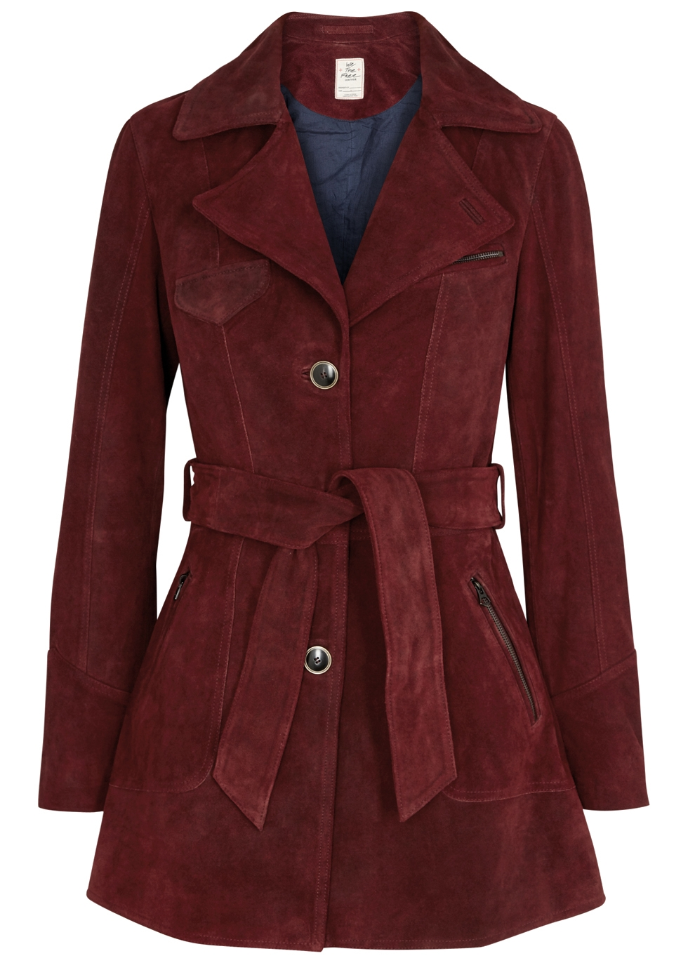 AGENT 99 BORDEAUX SUEDE JACKET