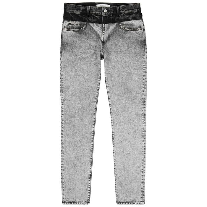 Givenchy Two-tone Slim-leg Jeans