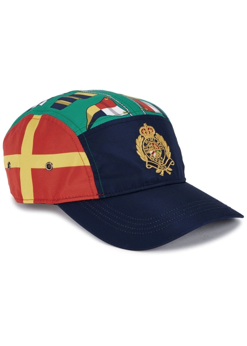 98bce6f0a3057 Polo Ralph Lauren Flag-print shell cap - Harvey Nichols