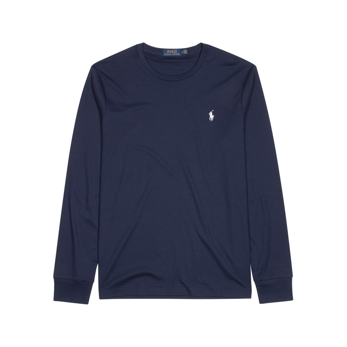 Polo Ralph Lauren Navy Cotton Top thumbnail