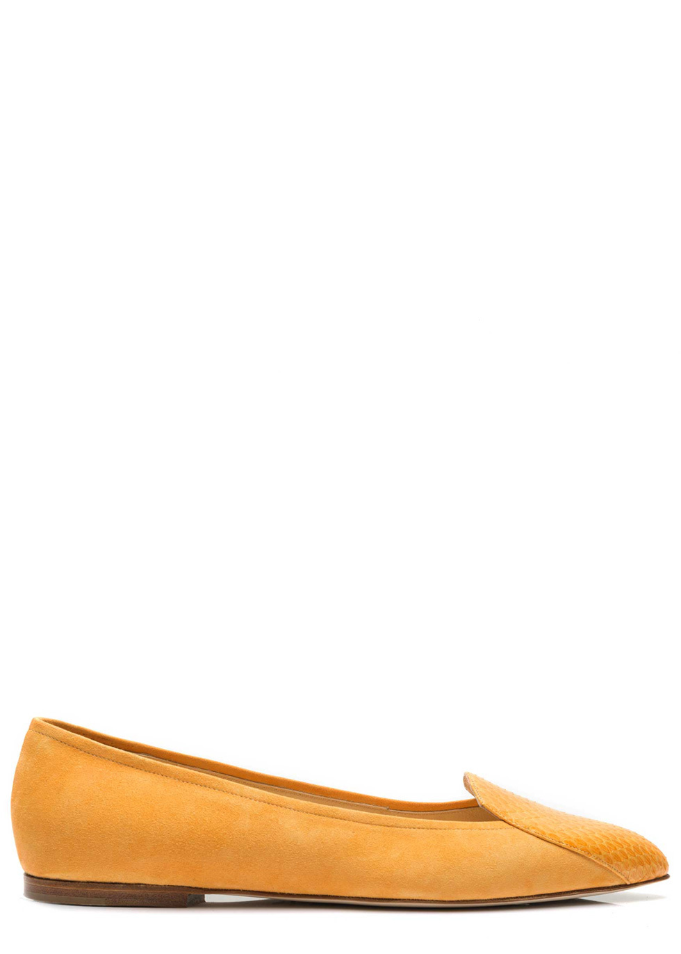 Julia Mays Ellie Striped Elaphe Pointed Toe Flats Browse For Sale fZ8USq