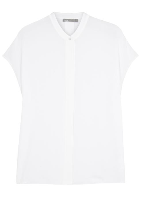 aae35bc4adb769 Vince Off white silk top - Harvey Nichols