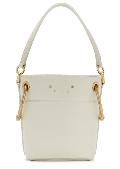 cff2a4c4b2a0 Chloé Roy mini ivory leather bucket bag - Harvey Nichols