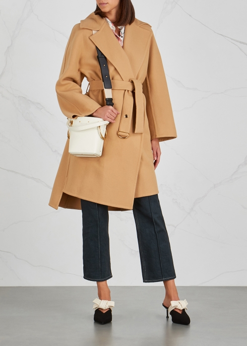 Chloé Roy mini ivory leather bucket bag - Harvey Nichols 26acfae2106d1