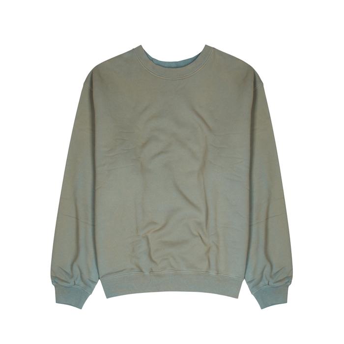 YEEZY SEASON 6 Green Faded Cotton Sweatshirt