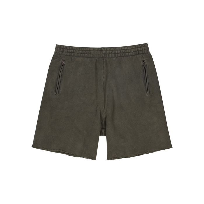 YEEZY SEASON 6 Army Green Cotton Shorts