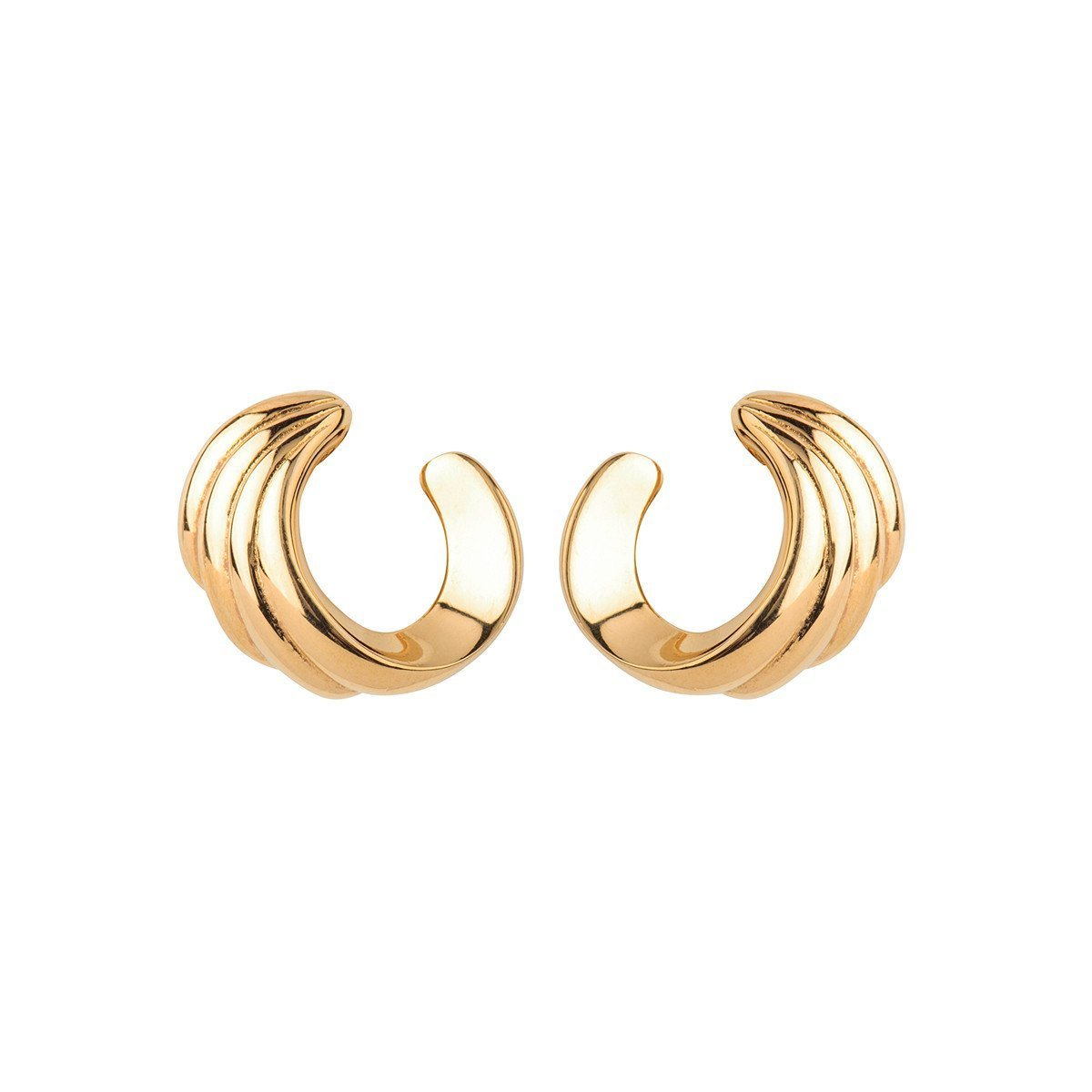 1970S VINTAGE MONET CURVE CLIP-ON EARRINGS