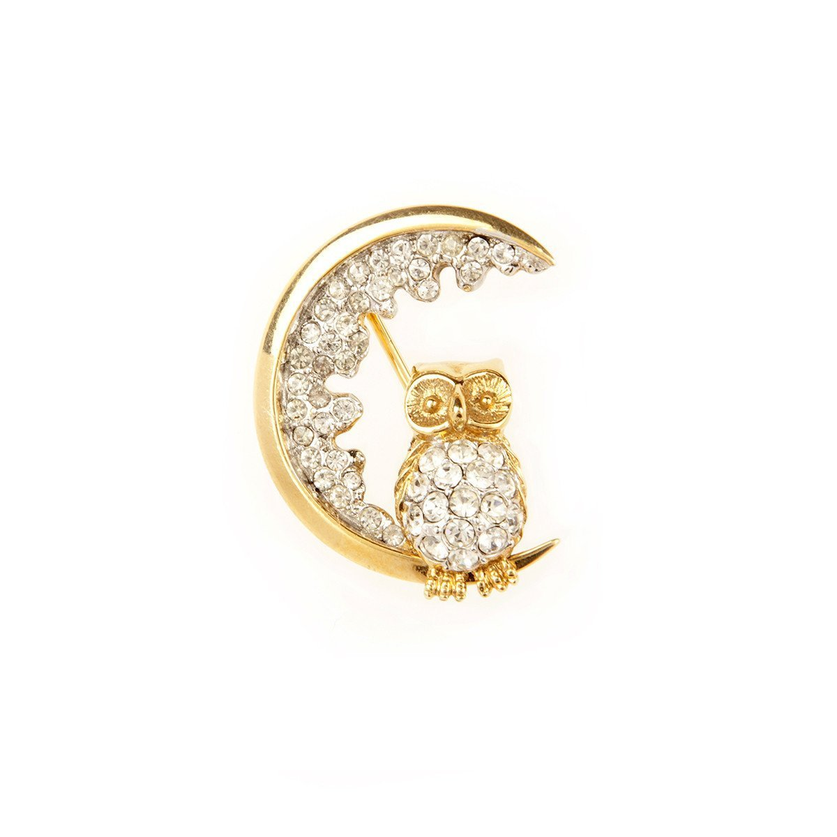 1960S VINTAGE ATTWOOD & SAWYER NIGHT OWL BROOCH
