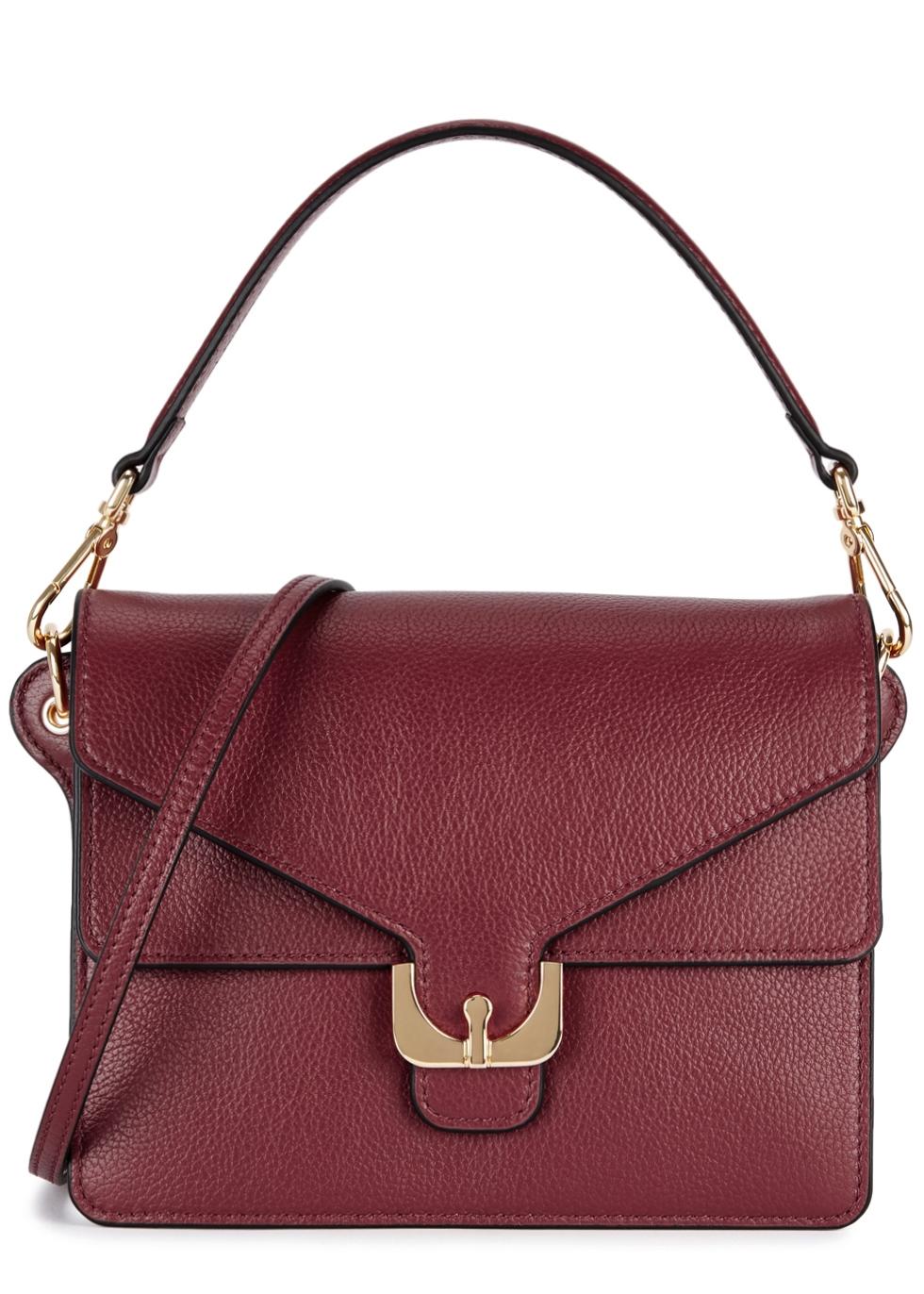 Ambrine Burgundy Leather Shoulder Bag