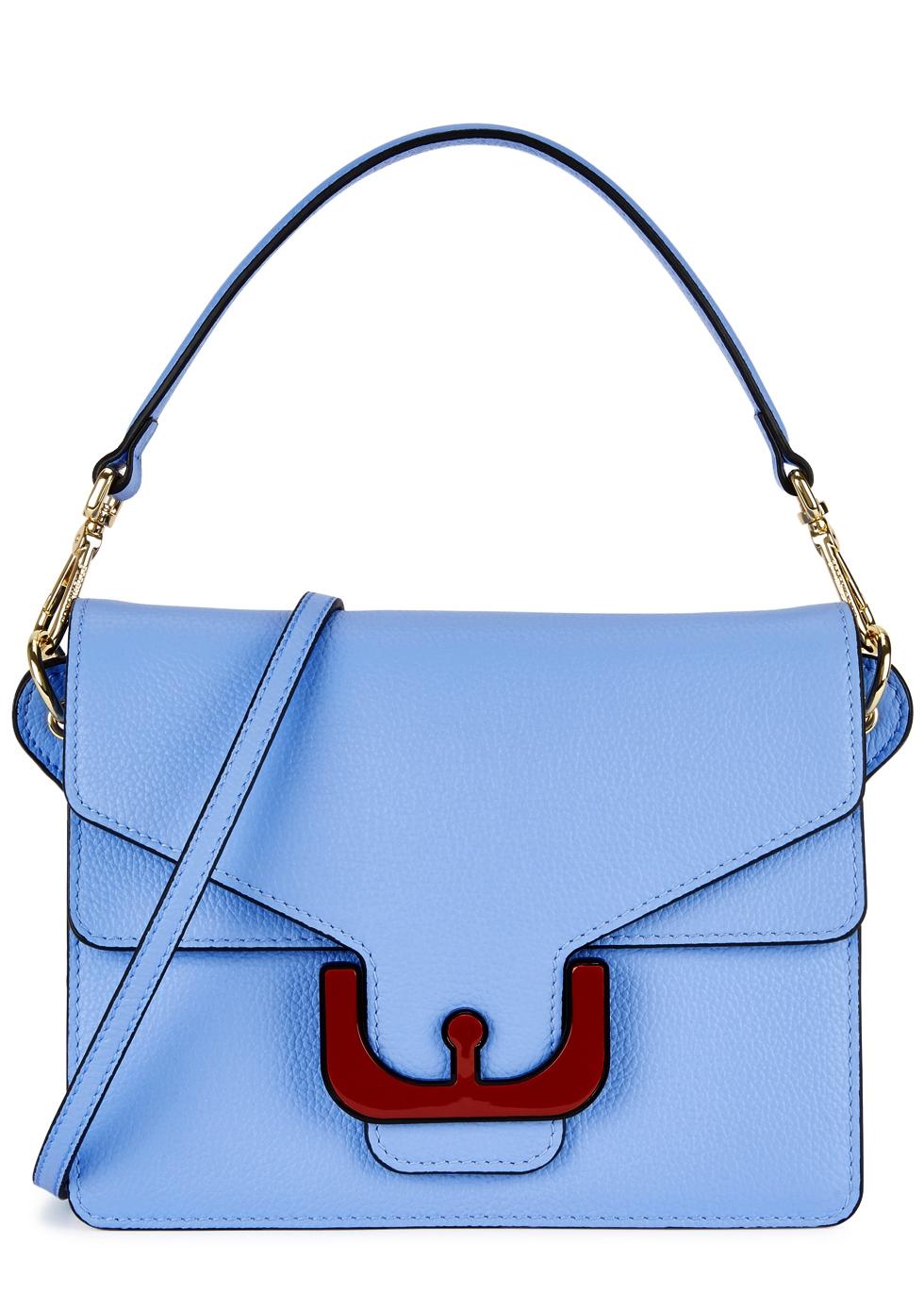Ambrine Blue Leather Shoulder Bag