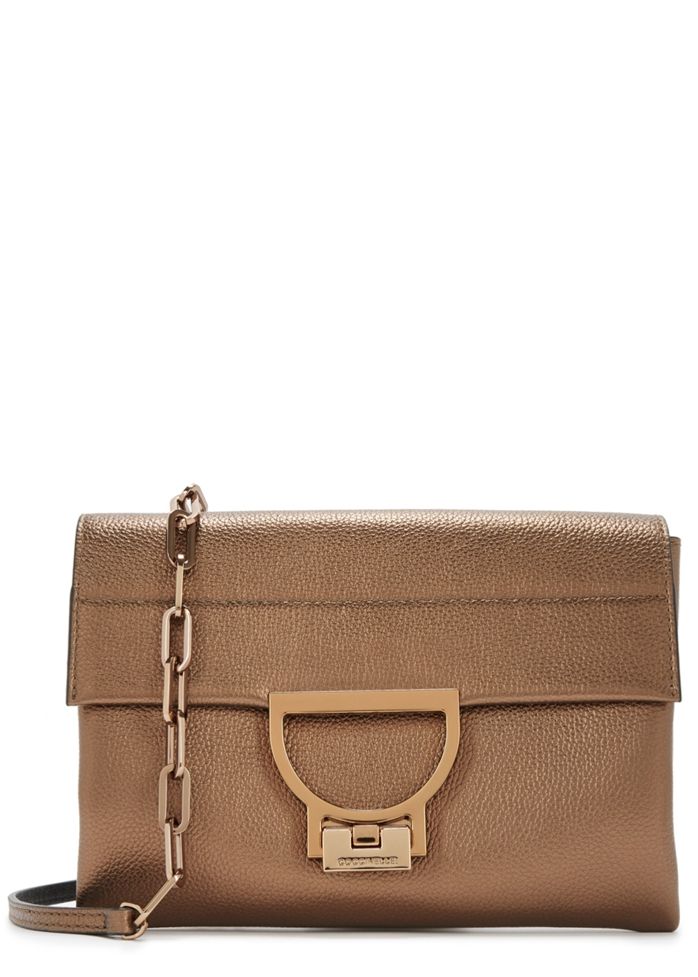 COCCINELLE ARLETTIS BRONZE LEATHER CROSS-BODY BAG