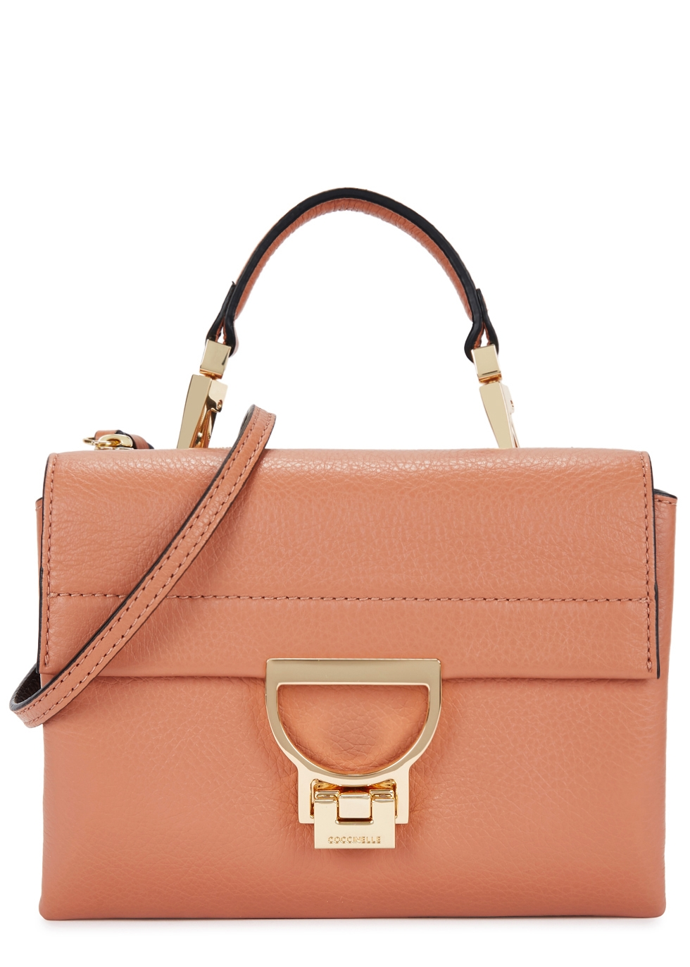 COCCINELLE ARLETTIS SALMON LEATHER CROSS-BODY BAG