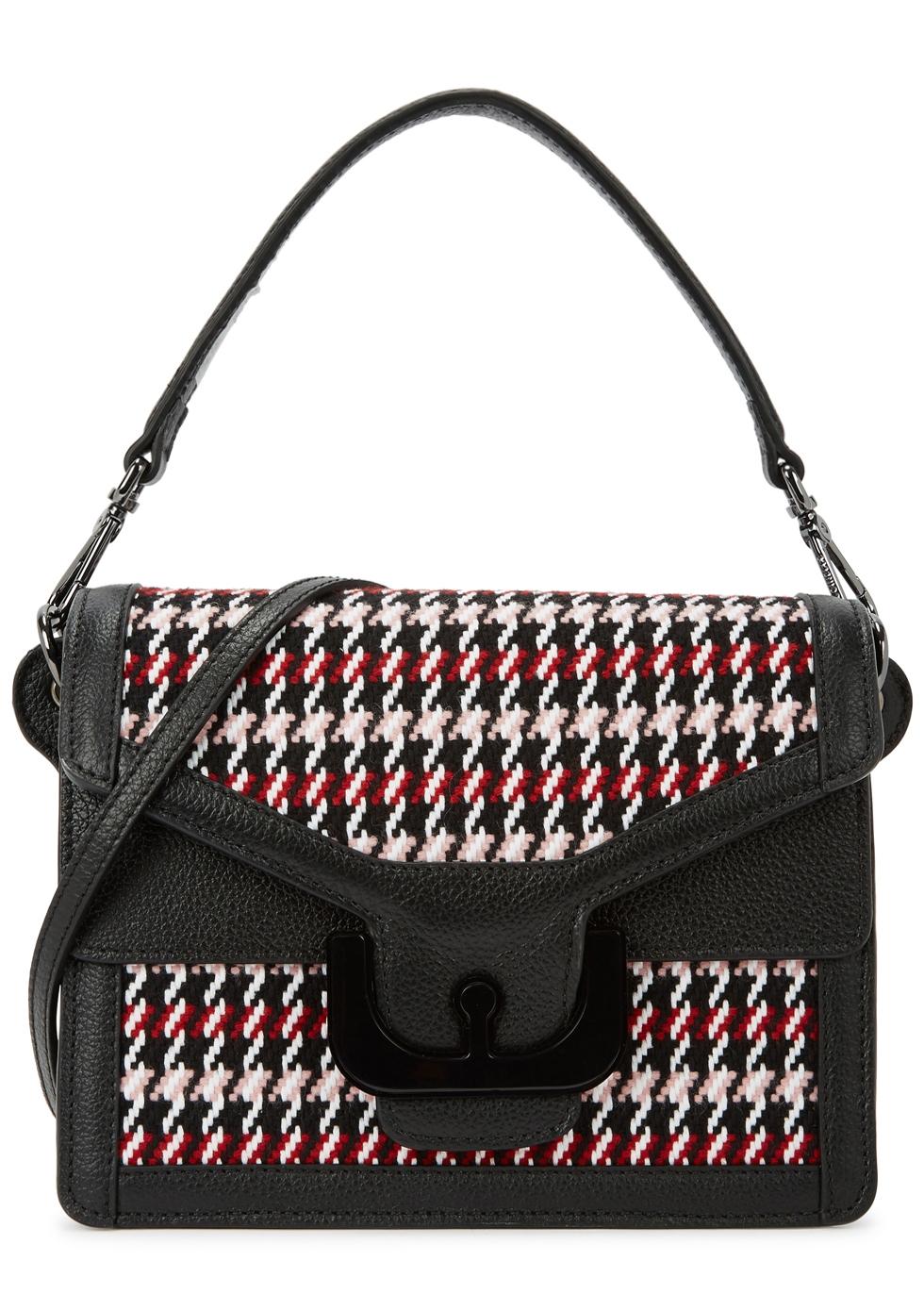 Ambrine Tweed And Leather Shoulder Bag, Multicoloured