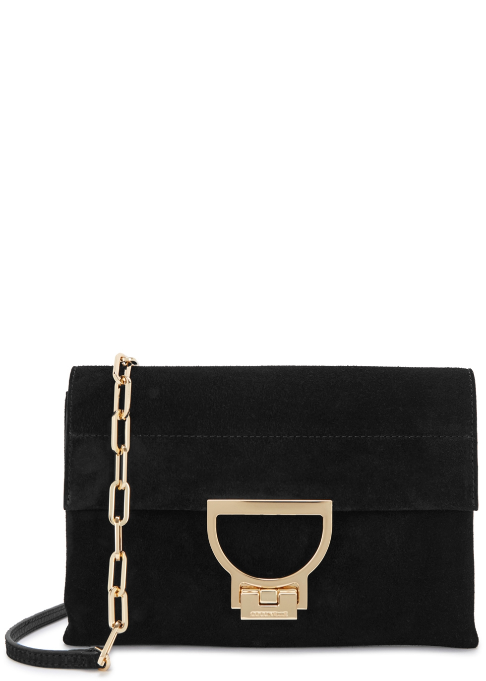 COCCINELLE ARLETTIS BLACK SUEDE CROSS-BODY BAG