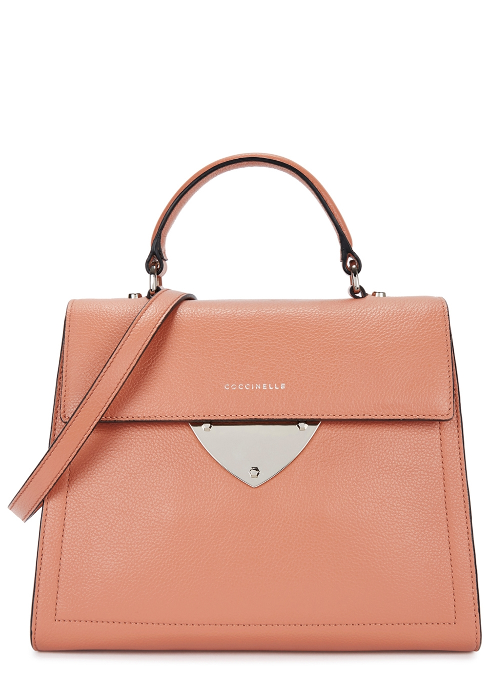 COCCINELLE B14 SALMON LEATHER SHOULDER BAG