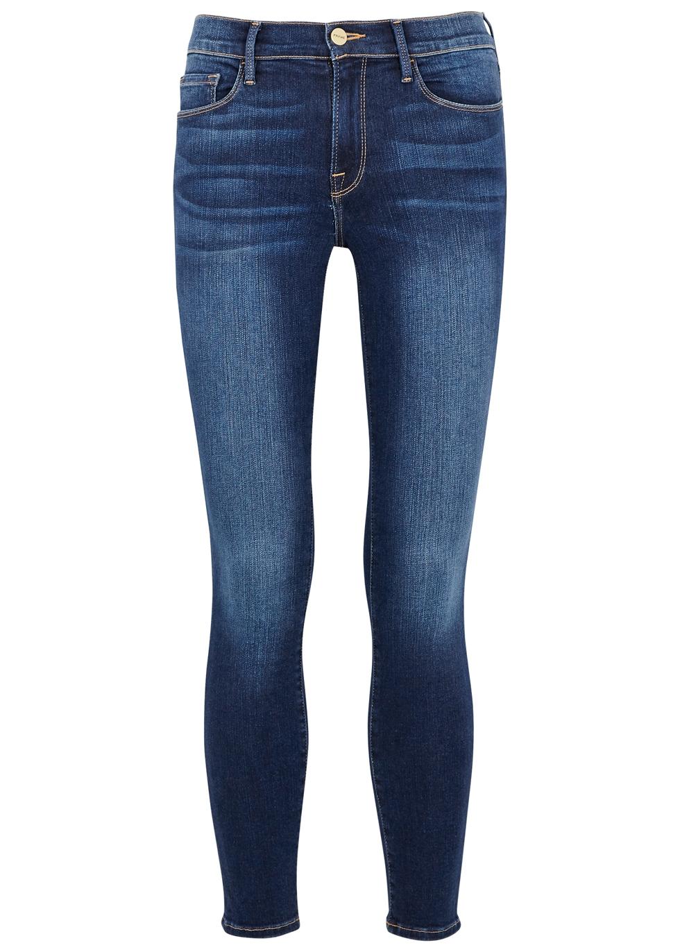 Jeans Denim Blue Nichols Jeanne Skinny De Crop Frame Le Dark Harvey PqUSFf