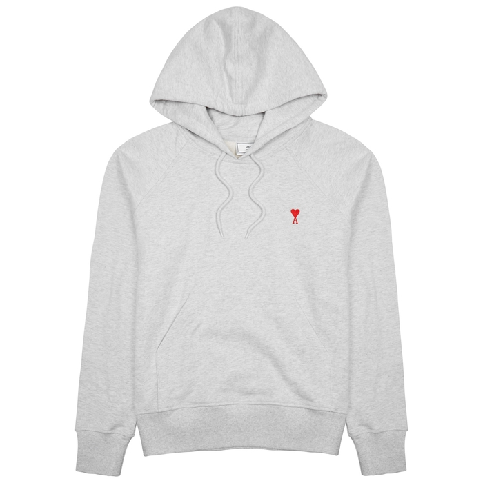 cea4cd032 AMI Logo-embroidered Hooded Cotton Sweatshirt