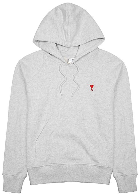 c4a4b2a423 AMI Logo-embroidered hooded cotton sweatshirt - Harvey Nichols