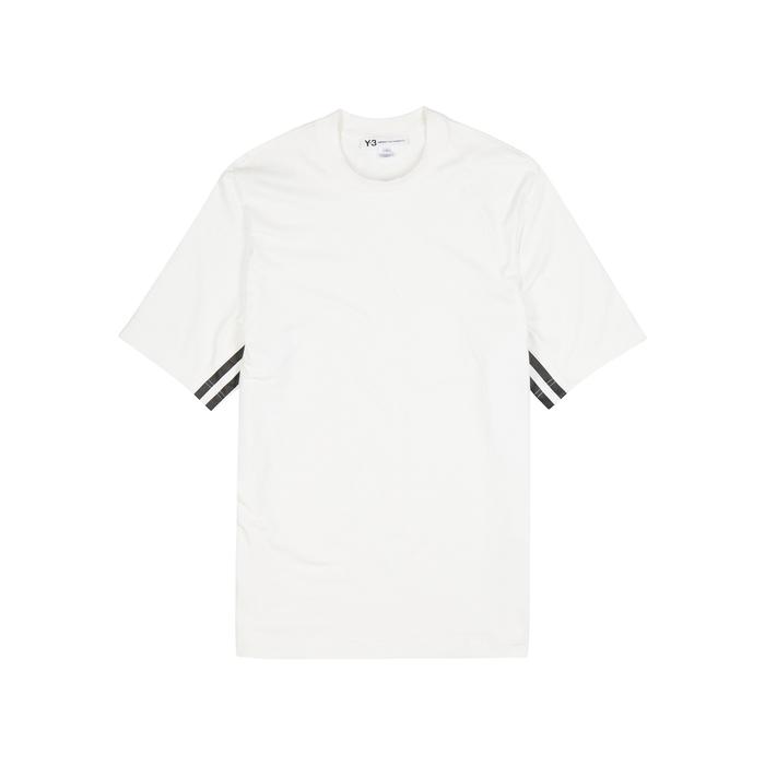 Y-3 Stripes White Jersey T-shirt