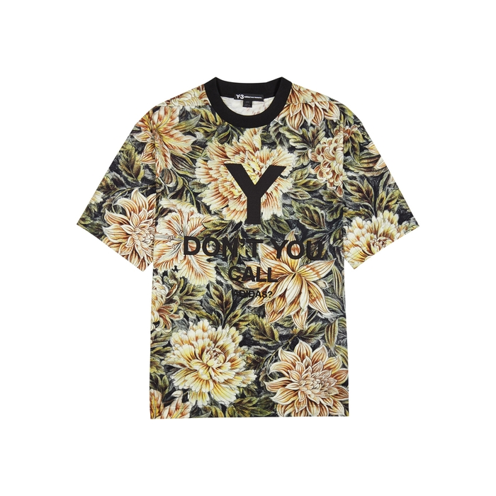 Y-3 Floral-print Jersey T-shirt