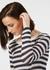 Linen gauze stripe sweater - navy- white - Ille de cocos