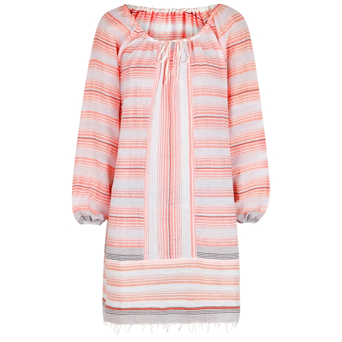 Lemlem TEREZA STRIPED COTTON-BLEND KAFTAN
