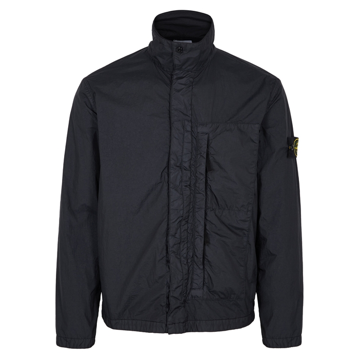 Stone Island Midnight Blue Garment-dyed Shell Jacket