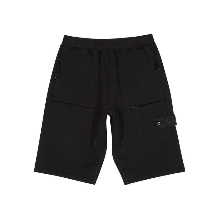 Stone Island Shadow Project Black Wool-jersey Shorts