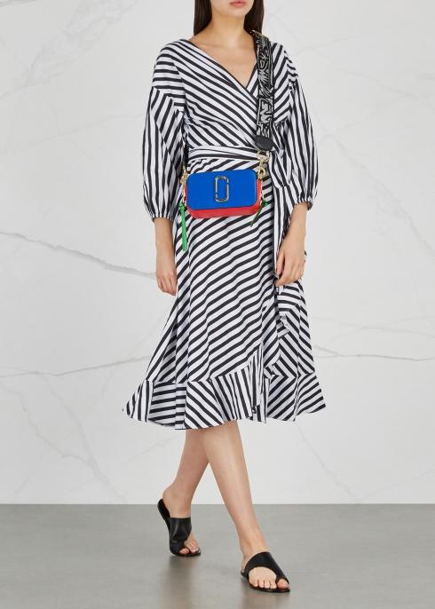 37a4e06be143 Marc Jacobs Snapshot colour-block leather shoulder bag - Harvey Nichols