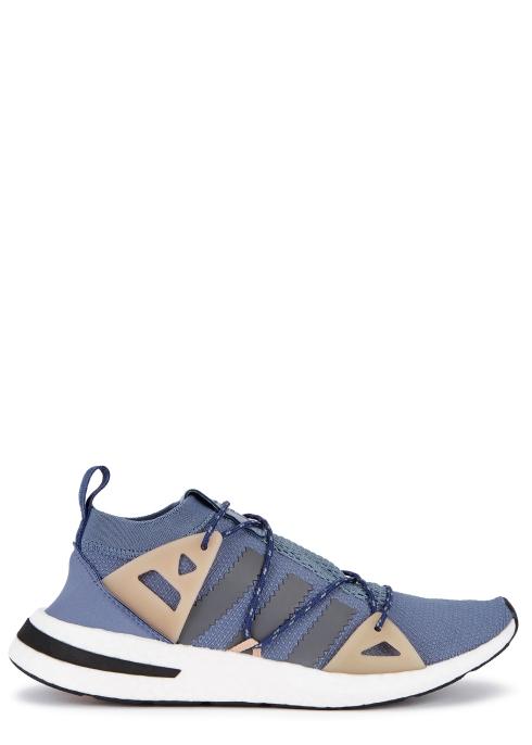 newest 6d719 19028 Arkyn blue textured mesh trainers - adidas Originals